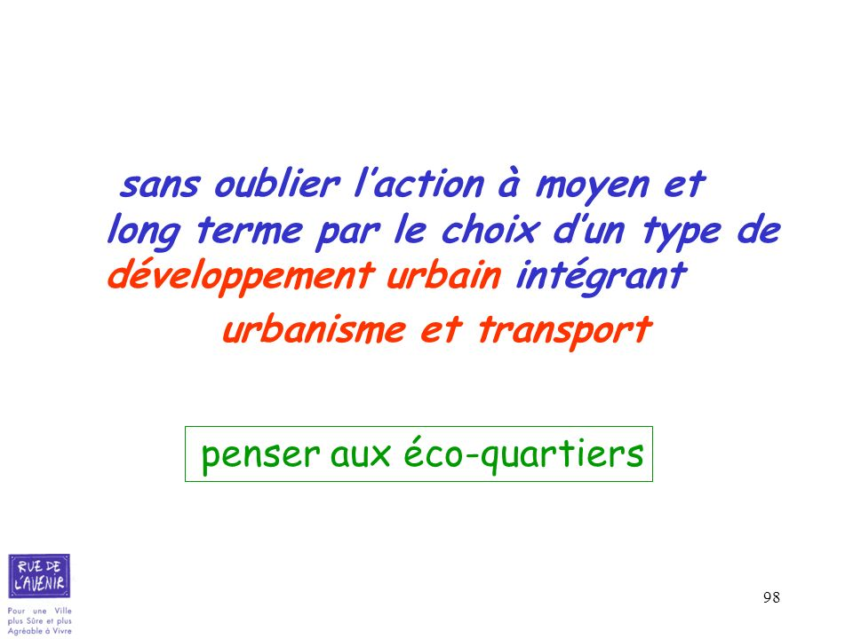 urbanisme et transport