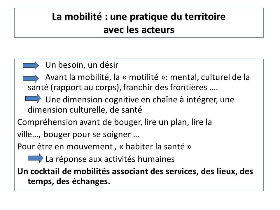 La mobilité : une pratique du territoire avec les acteurs