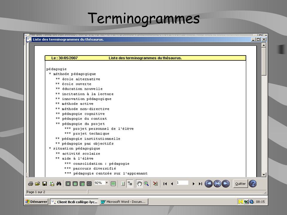 Terminogrammes