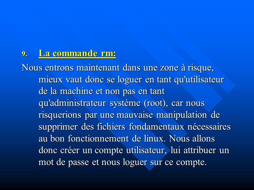 La commande rm:
