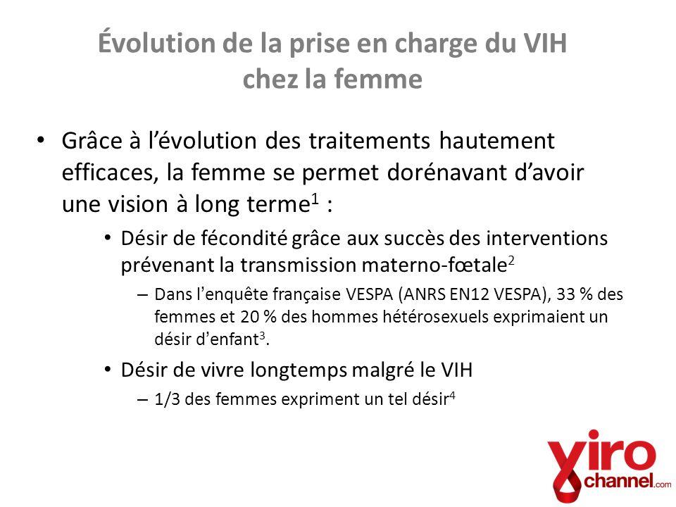 Évolution de la prise en charge du VIH chez la femme