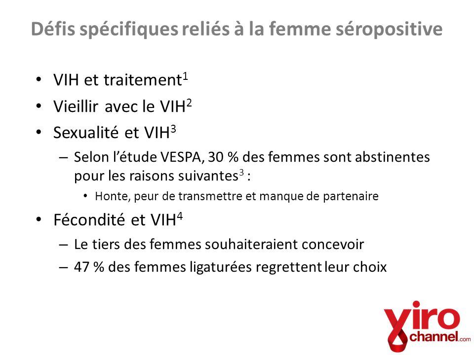Défis spécifiques reliés à la femme séropositive