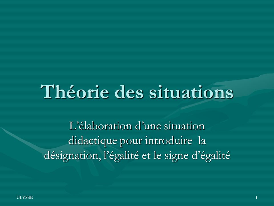 Théorie des situations
