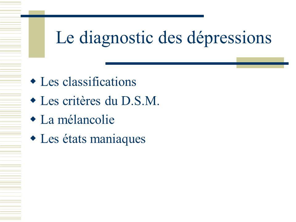 Le diagnostic des dépressions