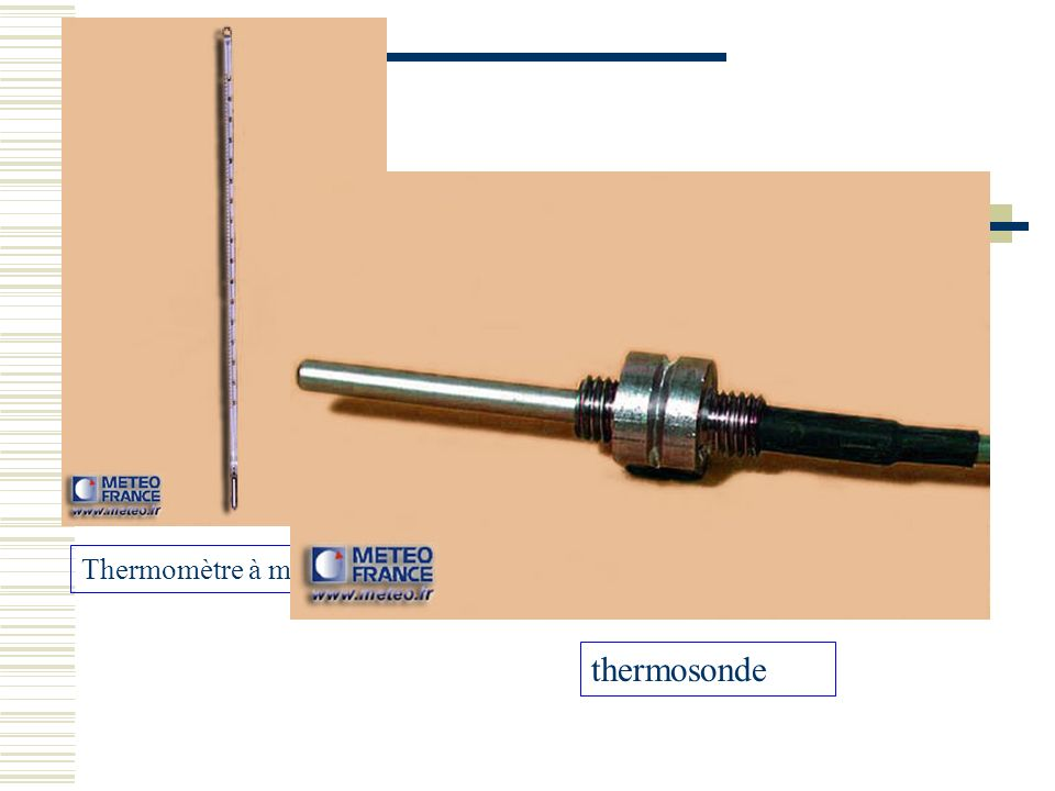 Thermomètre à mercure thermosonde