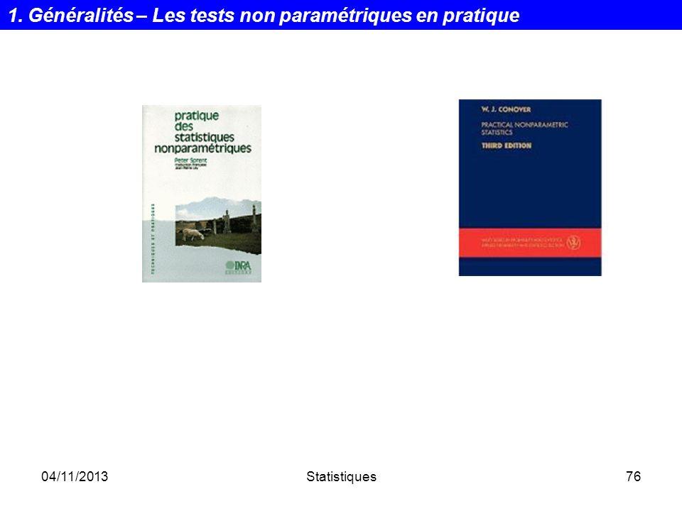 1. Généralités – Les tests non paramétriques en pratique