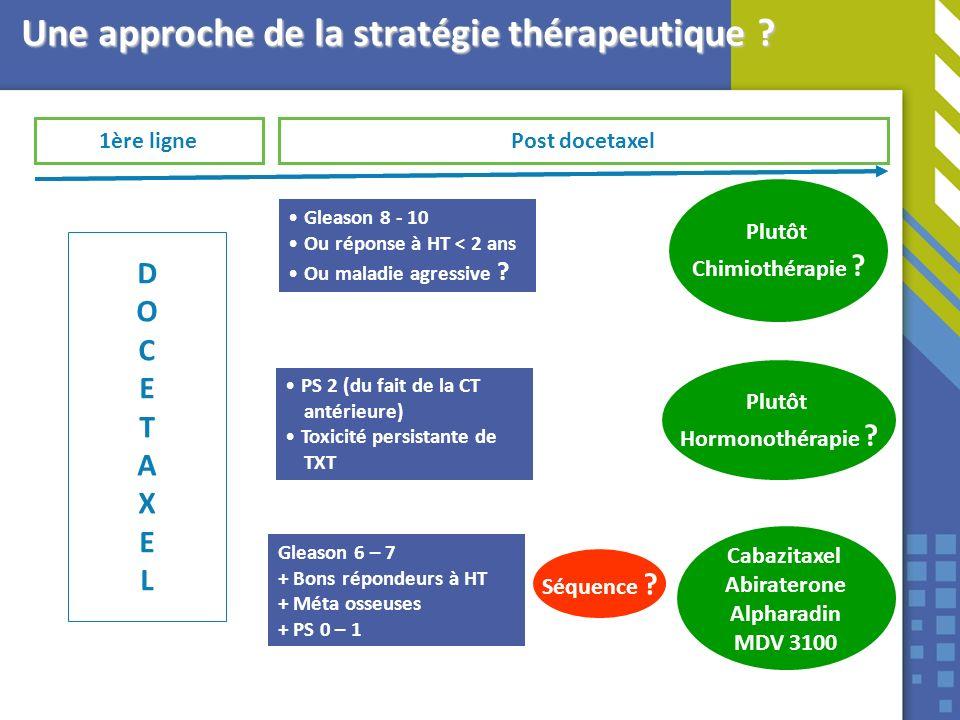 Une approche de la stratégie thérapeutique