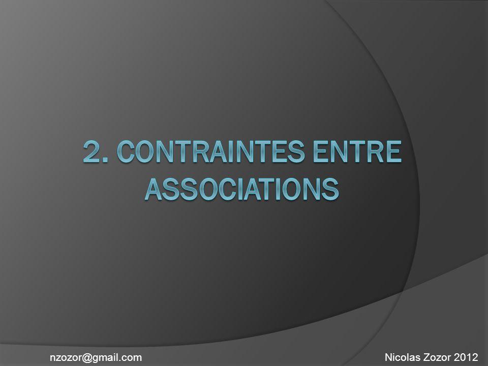 2. Contraintes entre associations