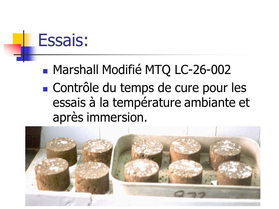 Essais: Marshall Modifié MTQ LC-26-002