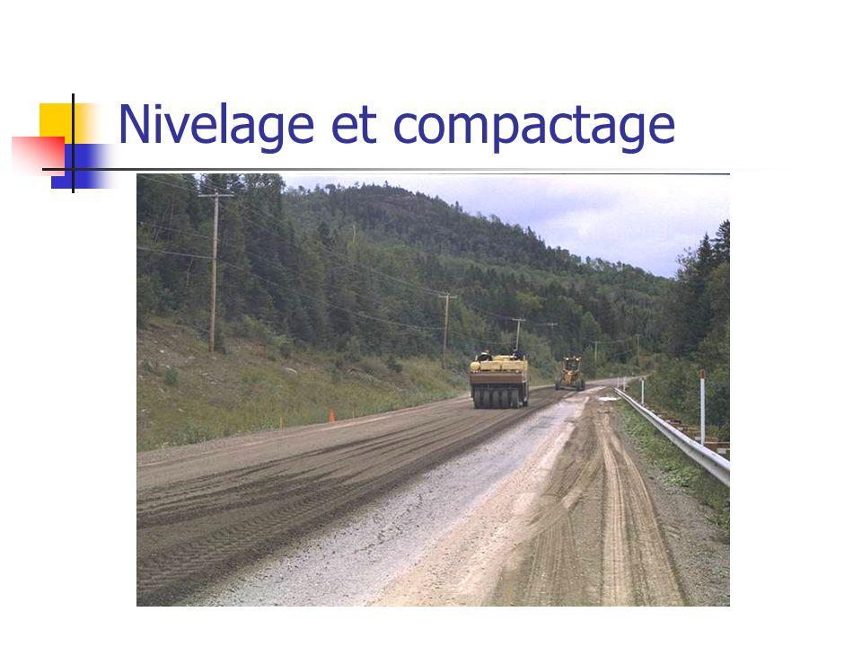 Nivelage et compactage