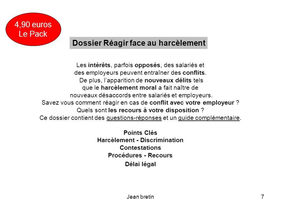 Dossier Réagir face au harcèlement