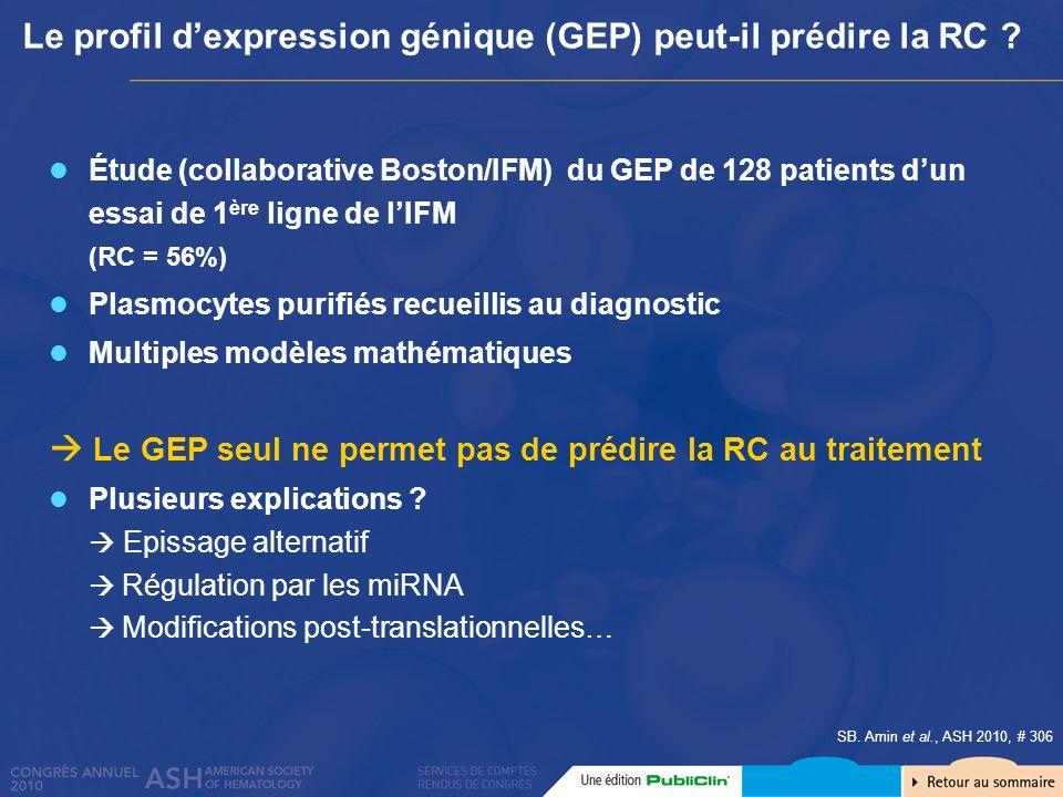 Le profil d'expression génique (GEP) peut-il prédire la RC