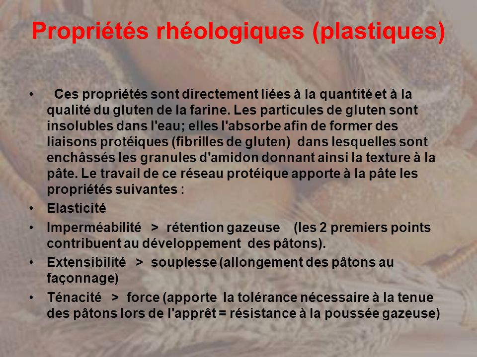Propriétés rhéologiques (plastiques)