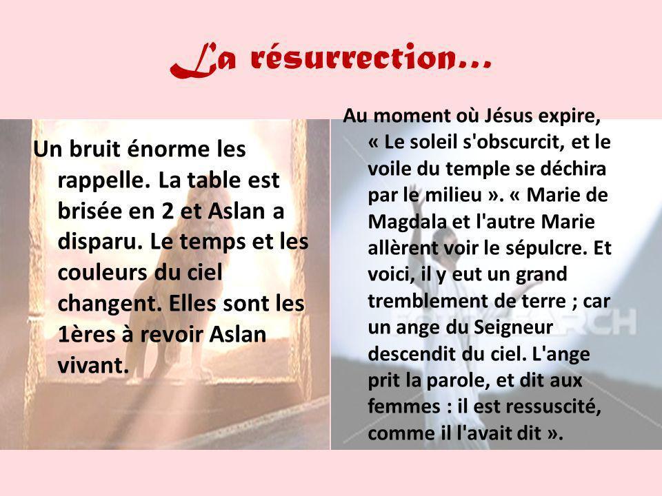 La résurrection…
