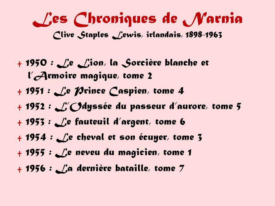 Les Chroniques de Narnia Clive Staples Lewis, irlandais, 1898-1963