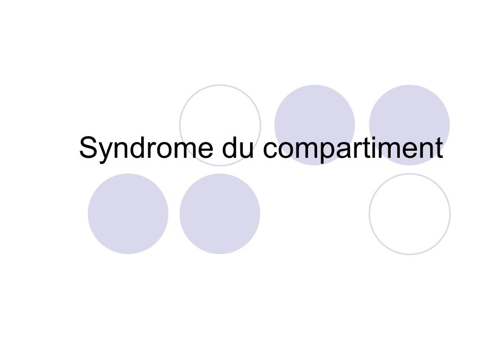 Syndrome du compartiment