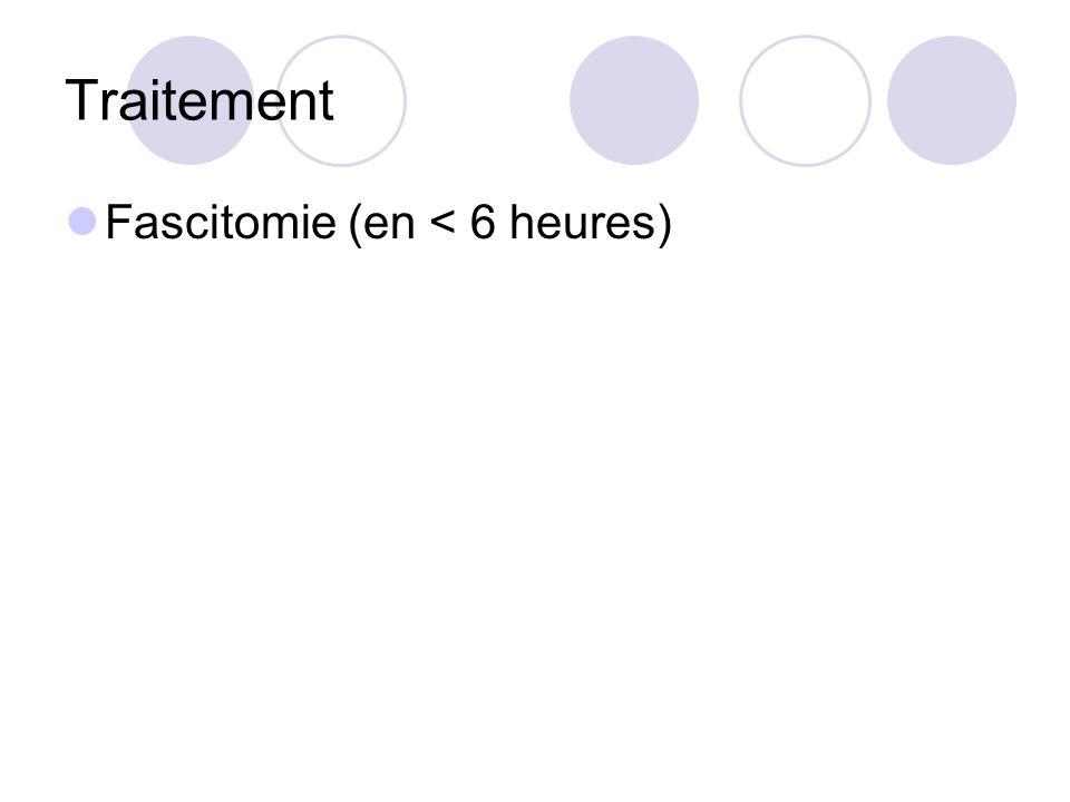 Traitement Fascitomie (en < 6 heures)