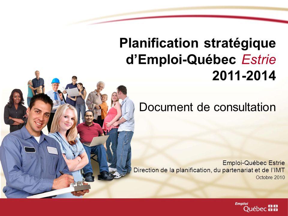 Planification stratégique d'Emploi-Québec Estrie 2011-2014