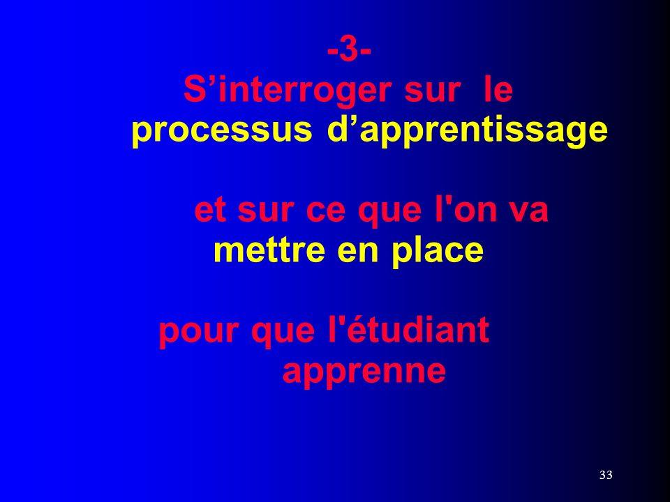 -3- S'interroger sur le. processus d'apprentissage