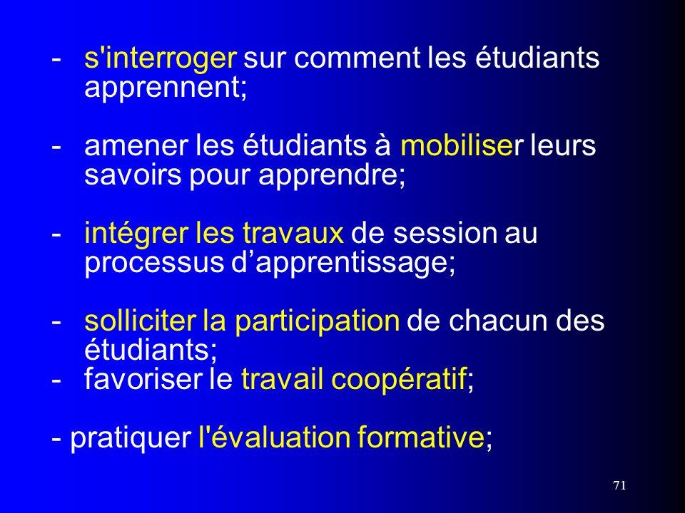 -. s interroger sur comment les étudiants. apprennent; -