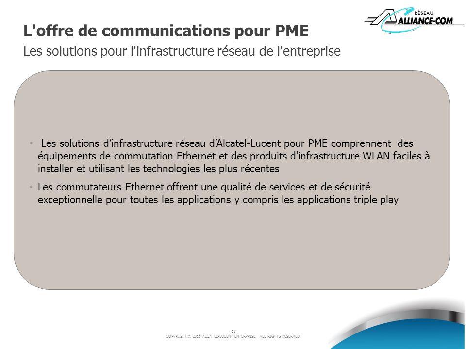 L offre de communications pour PME Les solutions pour l infrastructure réseau de l entreprise