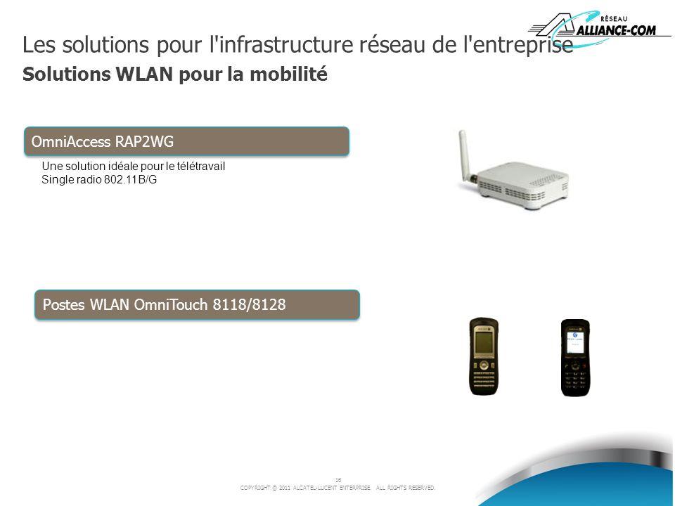 Les solutions pour l infrastructure réseau de l entreprise Solutions WLAN pour la mobilité