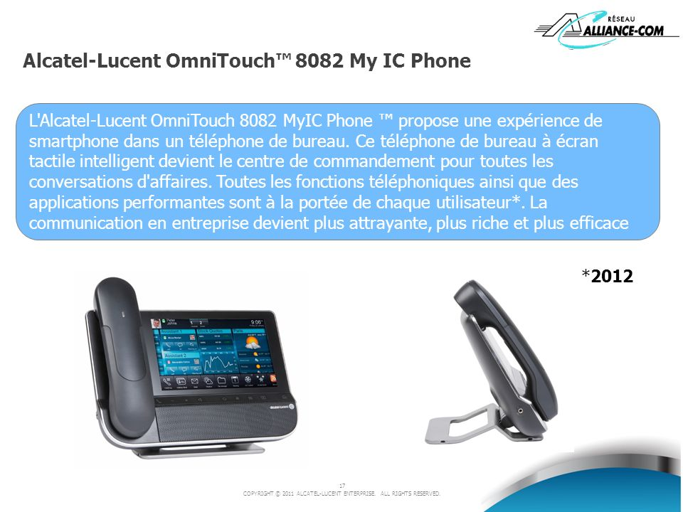 Alcatel-Lucent OmniTouch™ 8082 My IC Phone