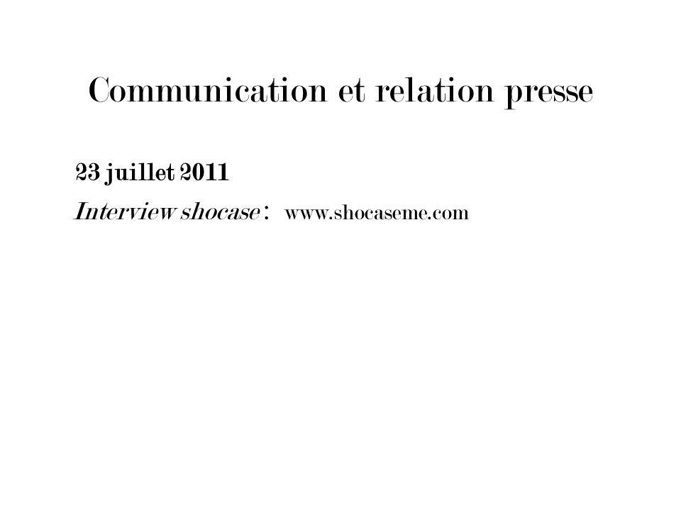Communication et relation presse