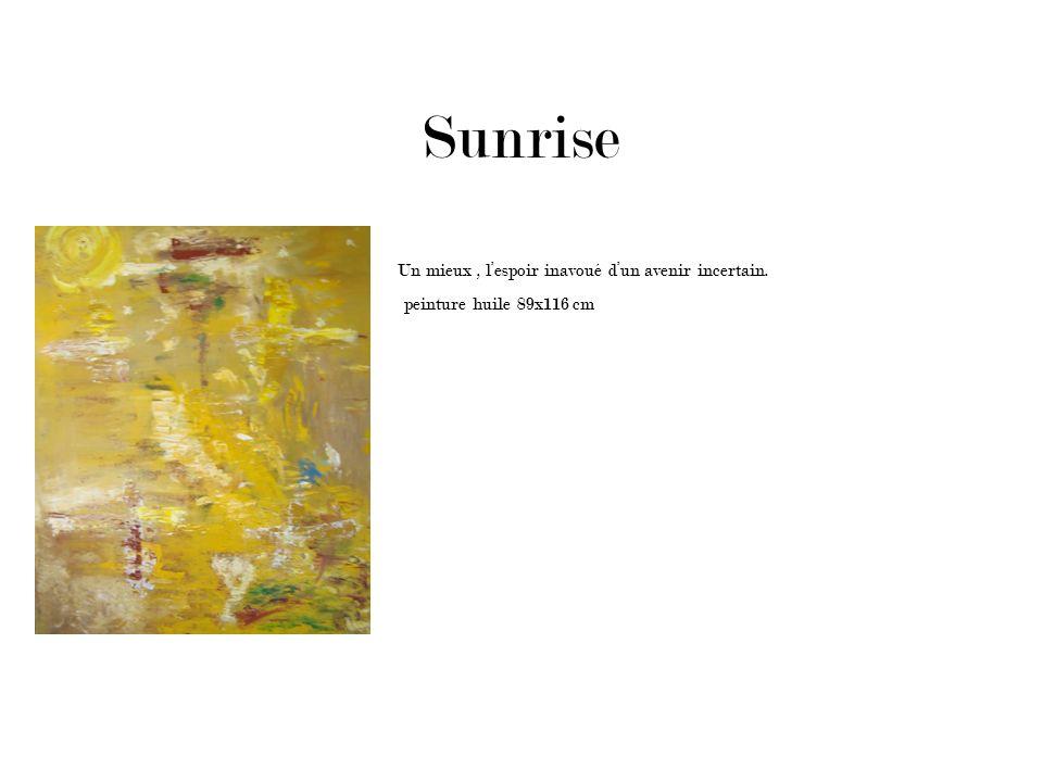 Sunrise Un mieux , l'espoir inavoué d'un avenir incertain.