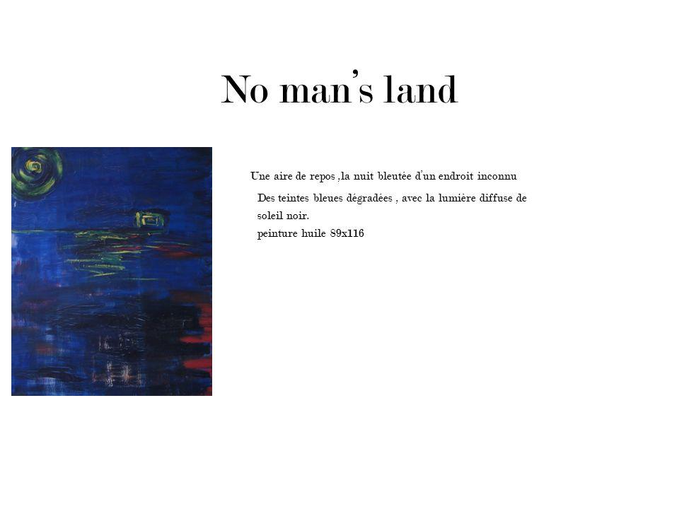 No man's land Une aire de repos ,la nuit bleutée d'un endroit inconnu