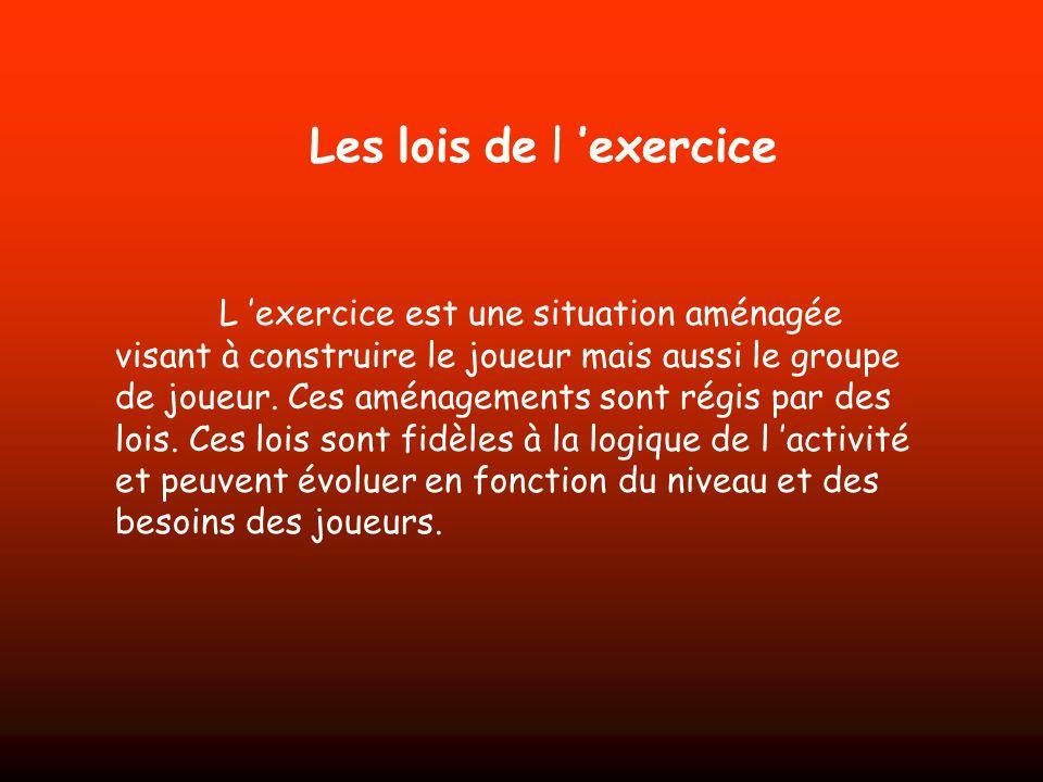 Les lois de l 'exercice