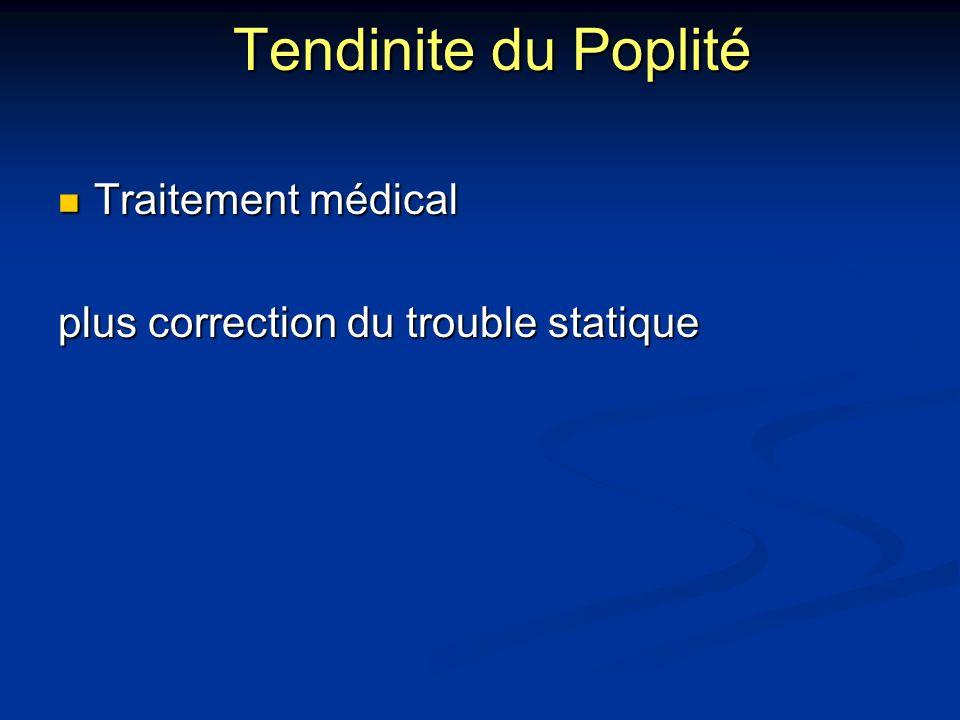 Tendinite du Poplité Traitement médical