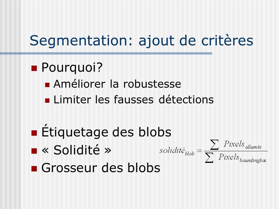Segmentation: ajout de critères