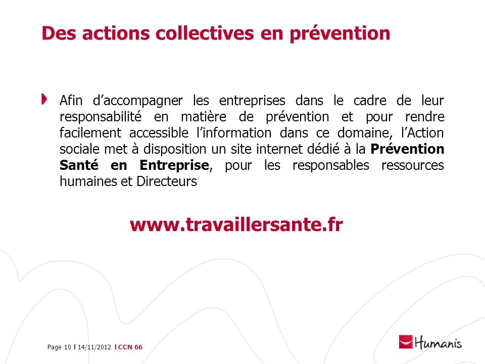 Des actions collectives en prévention