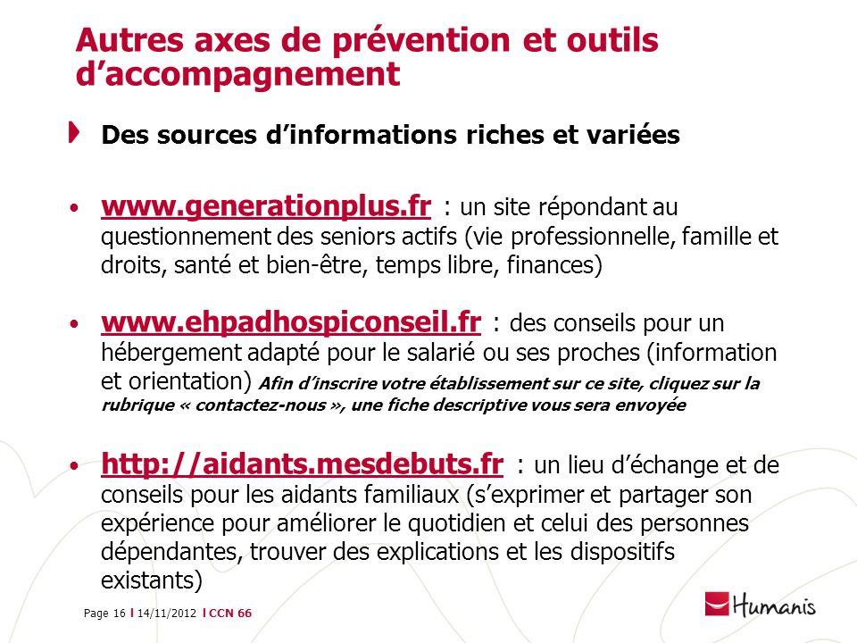 Autres axes de prévention et outils d'accompagnement