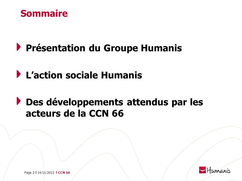 Sommaire Présentation du Groupe Humanis. L'action sociale Humanis.