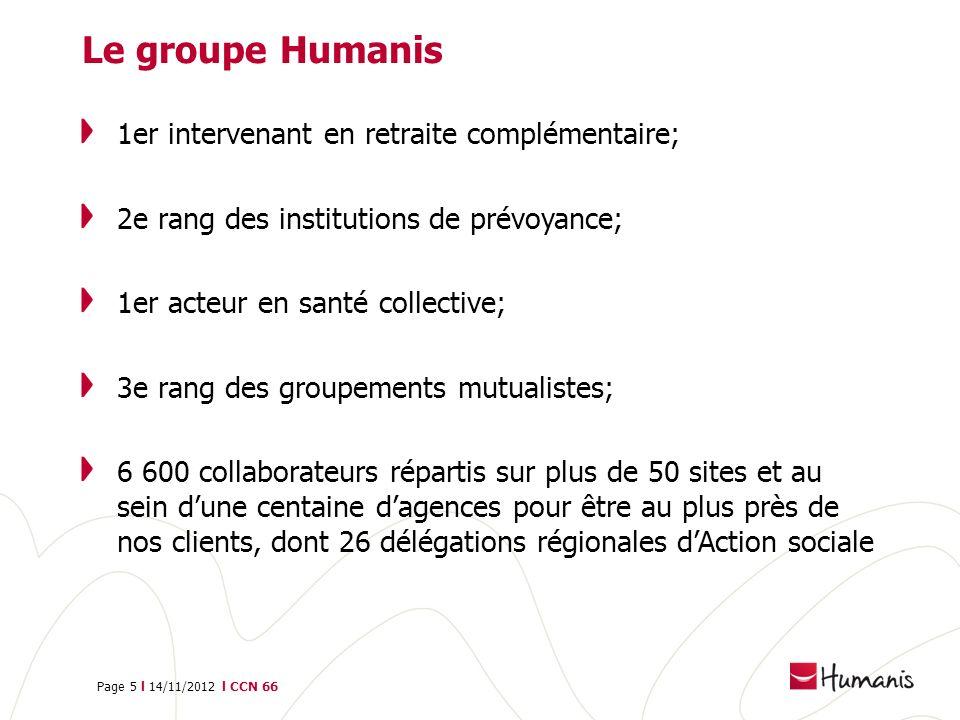 Le groupe Humanis 1er intervenant en retraite complémentaire;