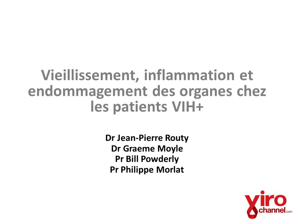 Vieillissement, inflammation et endommagement des organes chez les patients VIH+