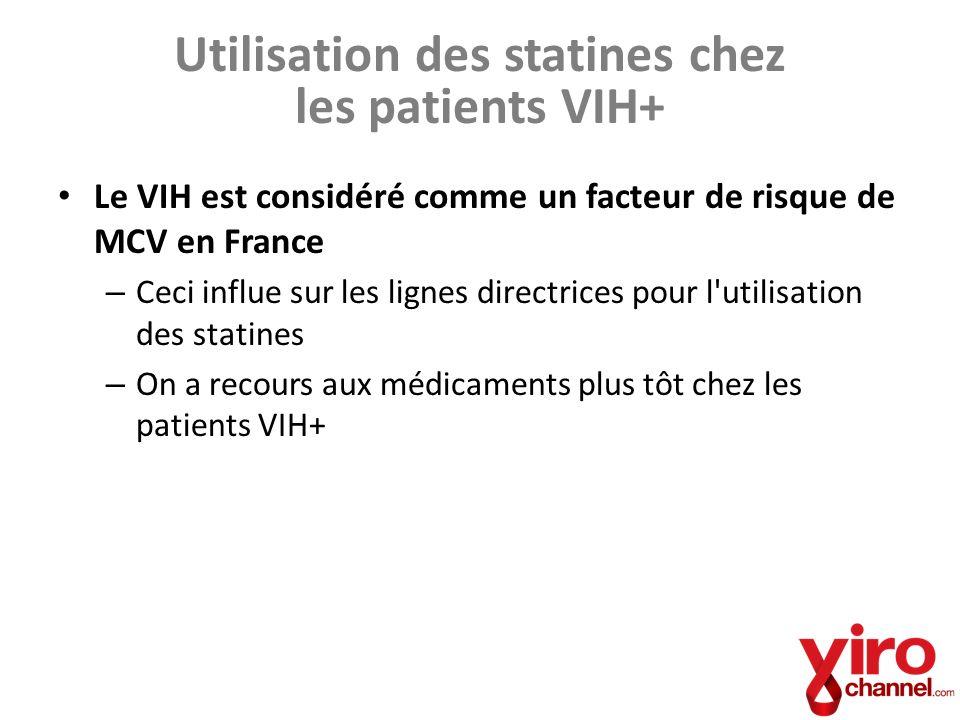 Utilisation des statines chez les patients VIH+