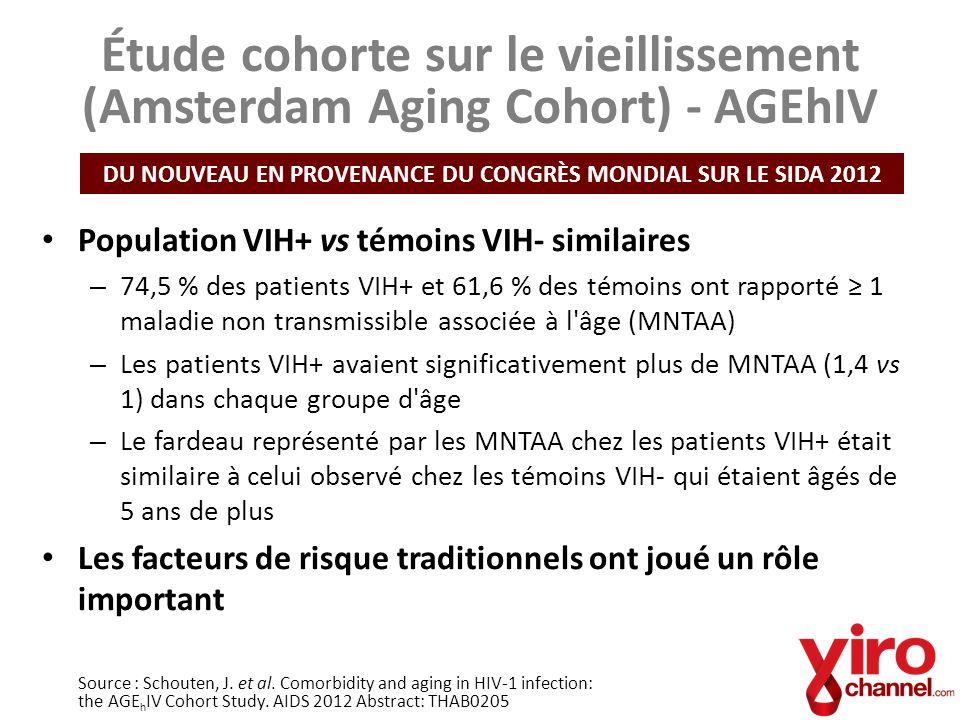 Étude cohorte sur le vieillissement (Amsterdam Aging Cohort) - AGEhIV