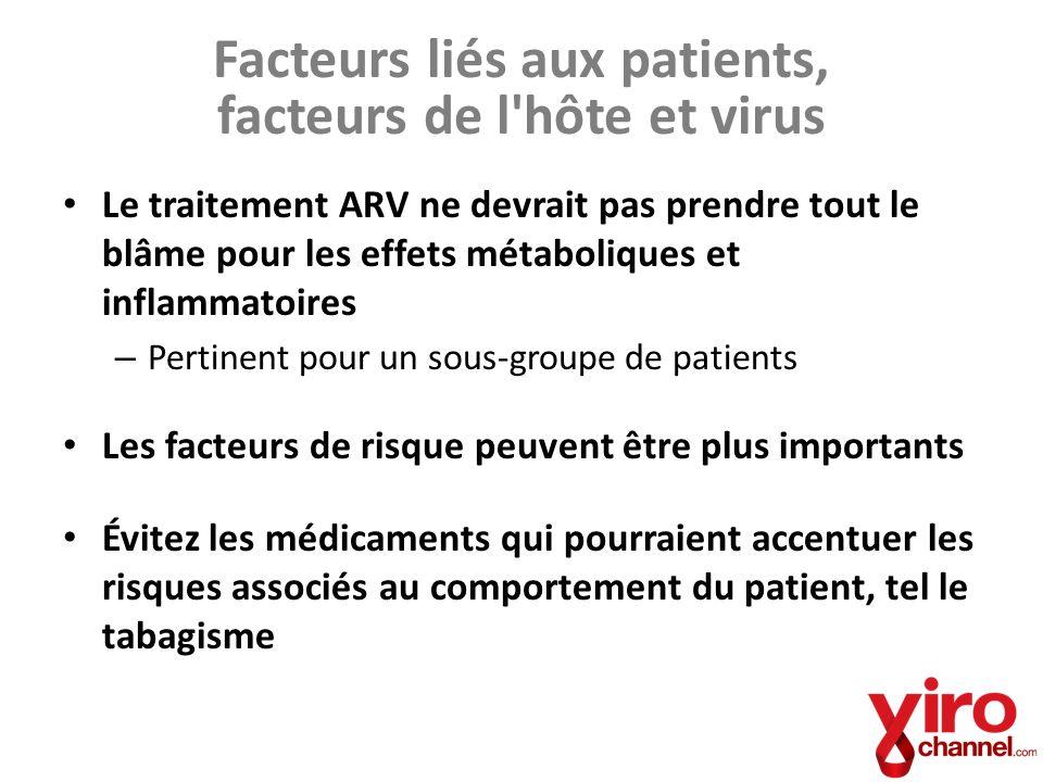 Facteurs liés aux patients, facteurs de l hôte et virus
