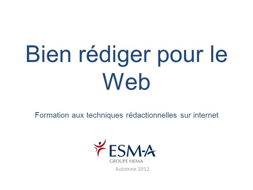 Bien rédiger pour le Web Formation aux techniques rédactionnelles sur internet