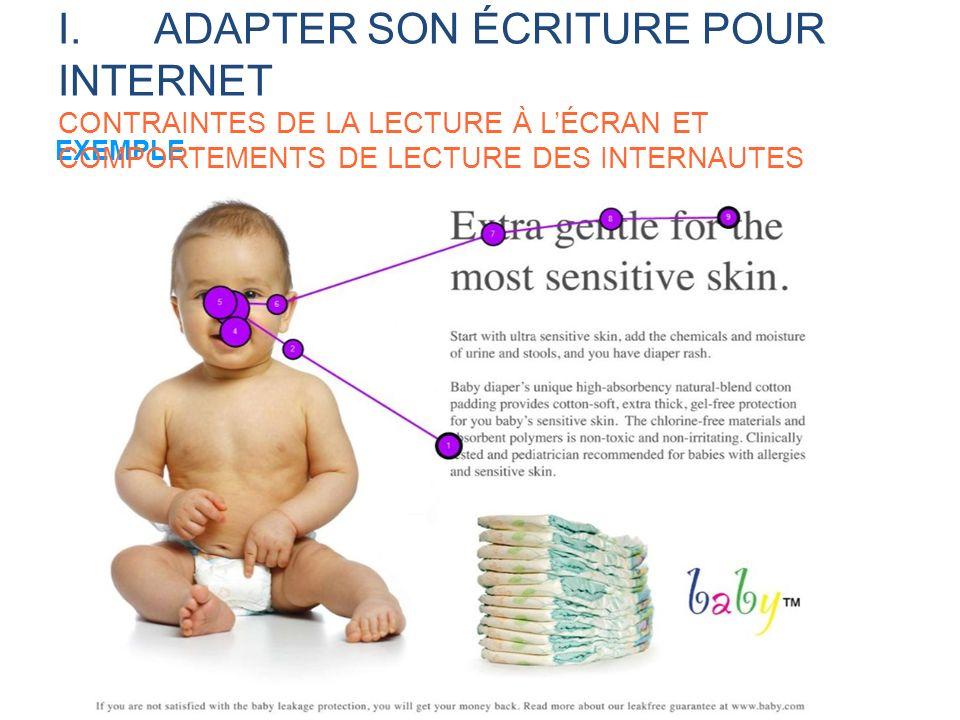 I. ADAPTER SON ÉCRITURE POUR INTERNET CONTRAINTES DE LA LECTURE À L'ÉCRAN ET COMPORTEMENTS DE LECTURE DES INTERNAUTES
