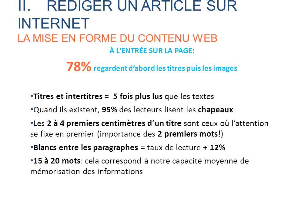 78% regardent d'abord les titres puis les images