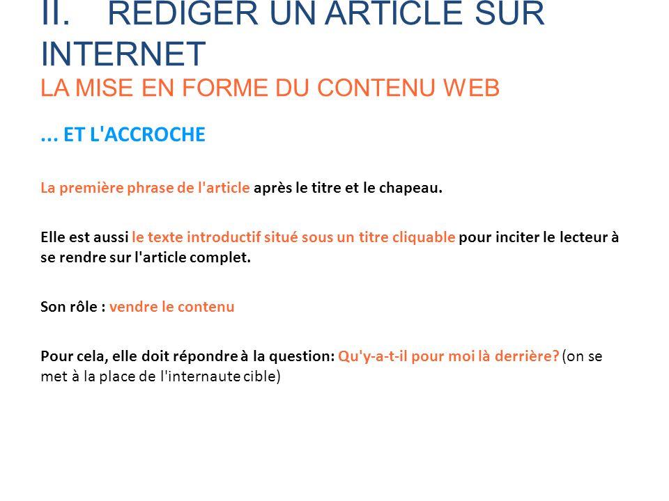 bien r u00e9diger pour le web formation aux techniques r u00e9dactionnelles sur internet automne ppt