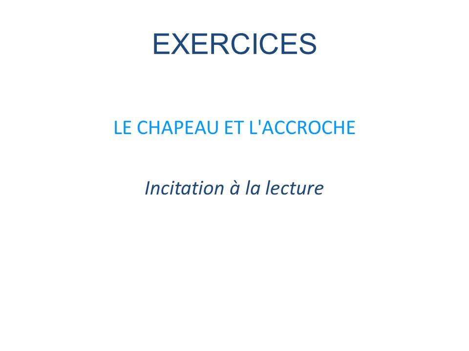 EXERCICES LE CHAPEAU ET L ACCROCHE Incitation à la lecture