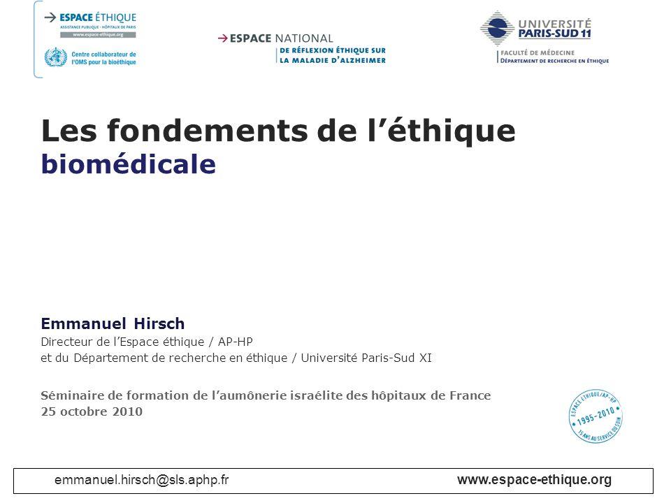 Les fondements de l'éthique biomédicale