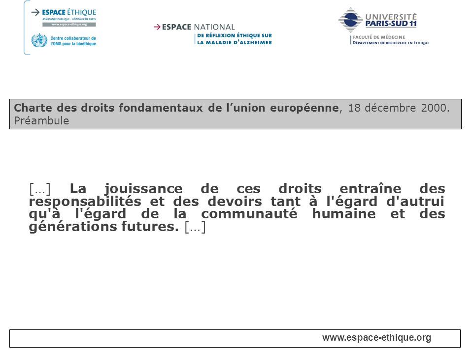 Charte des droits fondamentaux de l'union européenne, 18 décembre 2000.
