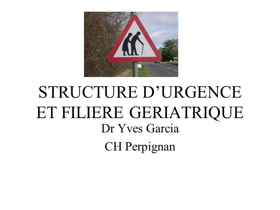STRUCTURE D'URGENCE ET FILIERE GERIATRIQUE