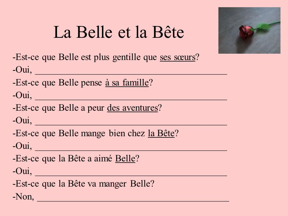 La Belle et la Bête -Est-ce que Belle est plus gentille que ses sœurs